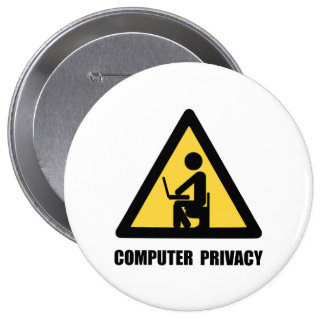 Computer Privacy 10 Cm Round Badge