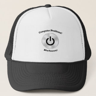 Computer Problems Black Letters Trucker Hat