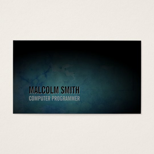 Computer Programmer Business Card Dark Grunge