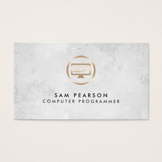 Computer Programmer ComputerCode Icon BusinessCard Business Card