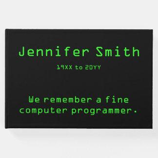 Computer Programmer Funeral/Memorial Guest Book