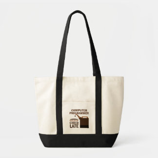 Computer Programmer Gift Chocolate Tote Bag