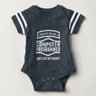 Computer Programmer Just Like My Daddy Baby Bodysuit