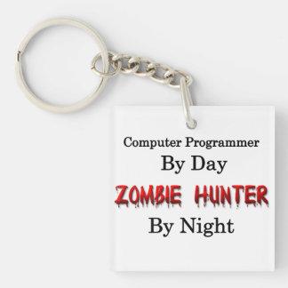 Computer Programmer Zombie Hunter Acrylic Keychains
