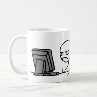 Computer Reaction Faces Basic White Mug
