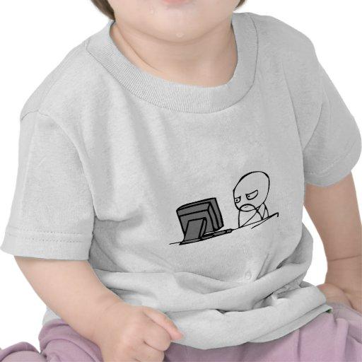 Computer Reaction Faces T Shirt