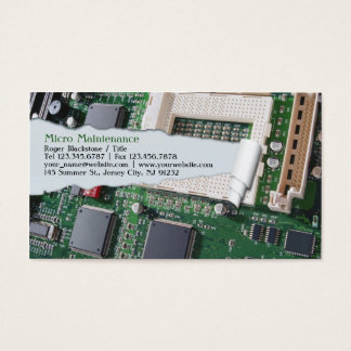 Motherboard business cards business card printing zazzle uk computer repair business card reheart Image collections