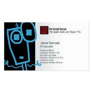 Computer Repair Business Card Cool Robot Geek