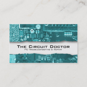 Computer repair business cards business card printing zazzle uk computer repair business card electronic circuits colourmoves