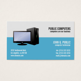 Computer Repair IT Support Network Administrators Business Card