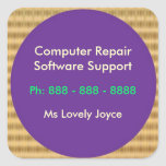 Computer Repair n Software Support Square Stickers
