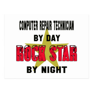 Computer repair technician by Day rockstar by nigh Postcard