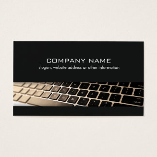 Computer Repair Technician Keyboard Black Business Card