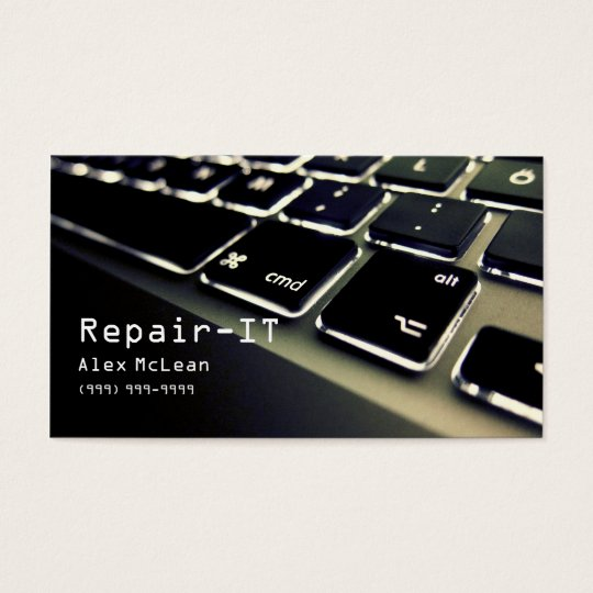 Computer Repair,Technician, Laptop, Business Card