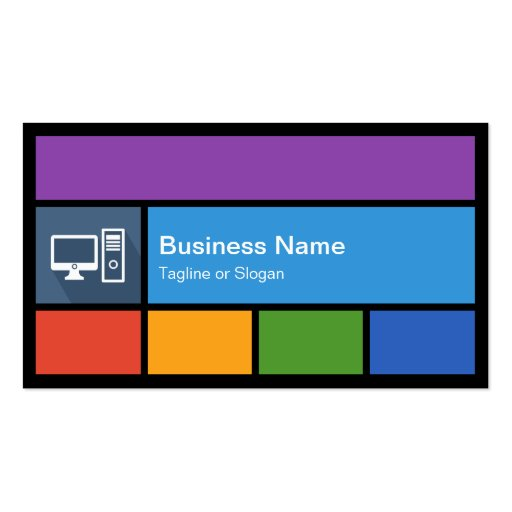 premium computer business card templates
