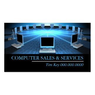 Computer Sales Repair Tech Laptop Business Cards