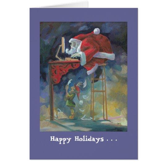 Computer santa christmas card