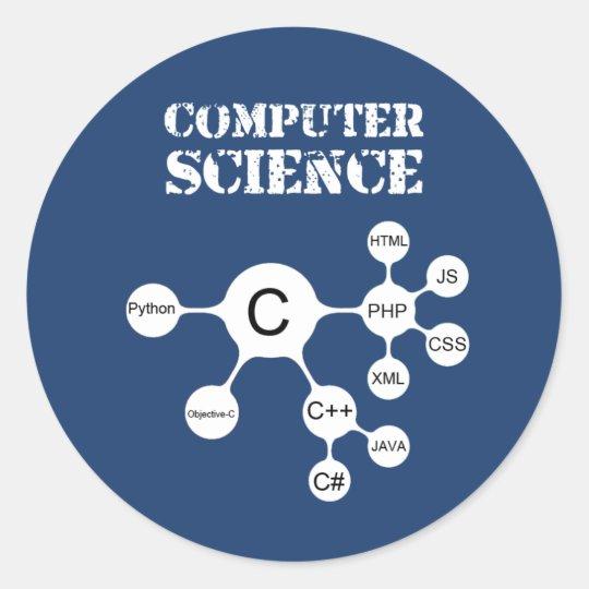 Computer Science Classic Round Sticker