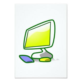 Computer Screen 9 Cm X 13 Cm Invitation Card