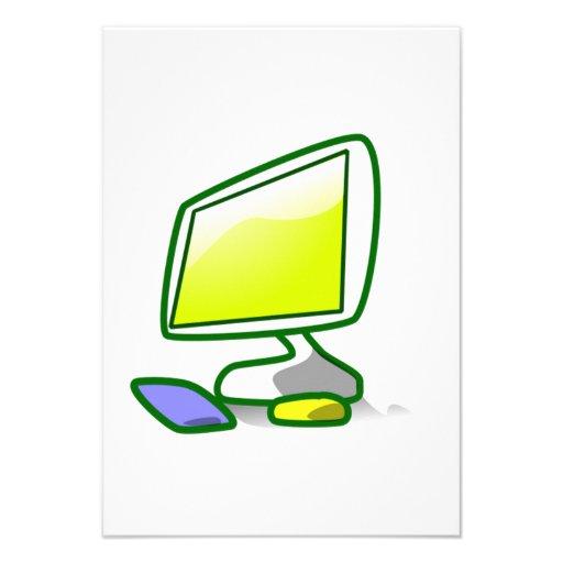 Computer Screen Personalized Invites