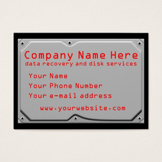 Computer services business cards