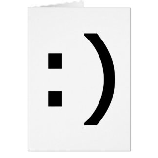 Computer Smiley Greeting Card
