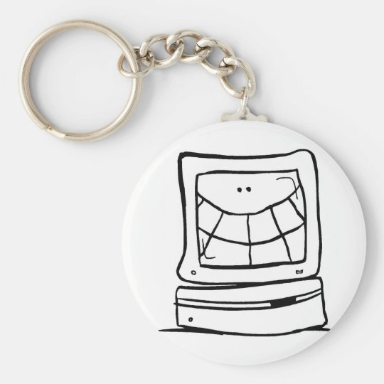 Computer Smiling Key Ring
