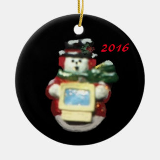 COMPUTER SNOWMAN 2016 COLLECTOR CHRISTMAS ORNAMENT