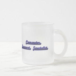 Computer Support Specialist Classic Job Design Frosted Glass Mug