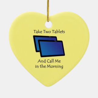Computer tablets - Take Two Ceramic Heart Decoration