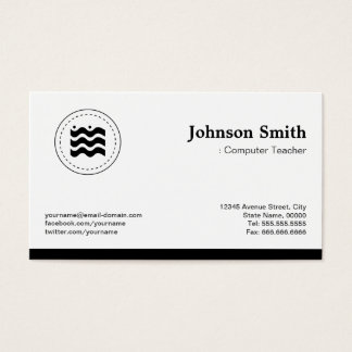 Business card sample professor image collections card design and information technology instructor business cards business card computer teacher black white changeable logo business card reheart colourmoves