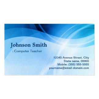 Computer Teacher - Modern Blue Creative Pack Of Standard Business Cards