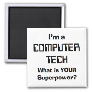 computer tech square magnet