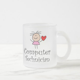 Computer Technician Frosted Glass Mug