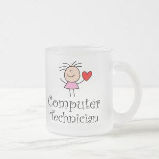 Computer Technician Frosted Glass Mug