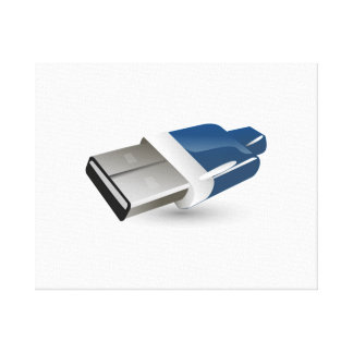 Computer USB Adapter Gallery Wrap Canvas