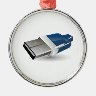 Computer USB Adapter Christmas Tree Ornament
