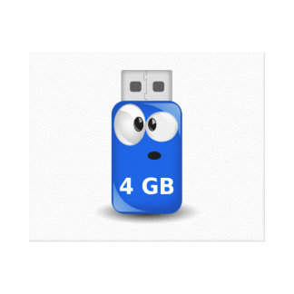Computer USB Flash Drive Gallery Wrapped Canvas