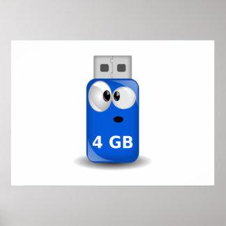 Computer USB Flash Drive Poster
