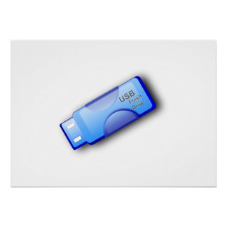 Computer USB Flash Drive Posters