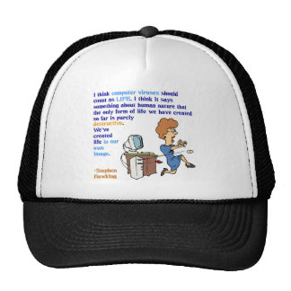 Computer Viruses are Alive 1 Mesh Hat