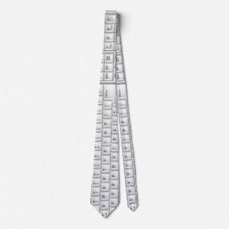 Computer White Keyboard Geek Tie