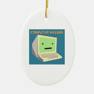 Computer Wizard Christmas Ornament