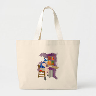 computer wizard tote bags