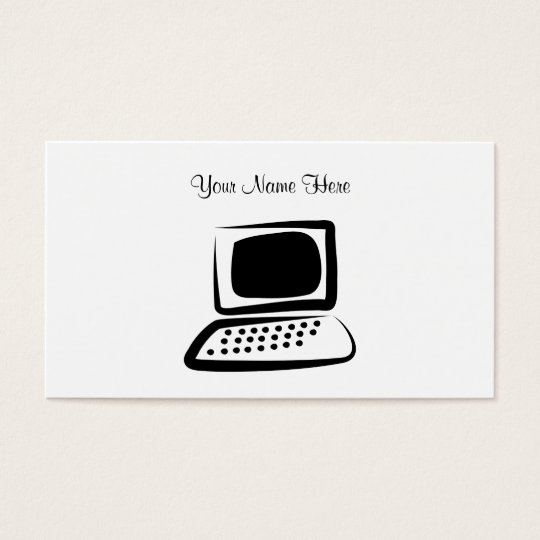 Computer, Your Name Here Business Card
