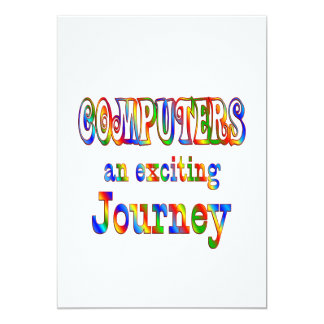 COMPUTERS are Exciting 13 Cm X 18 Cm Invitation Card