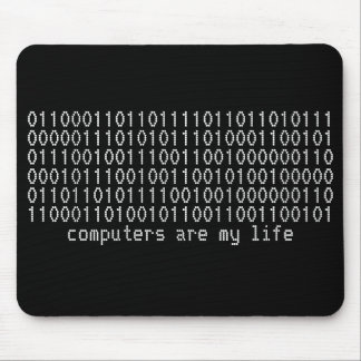 computers are my life binary mousepad