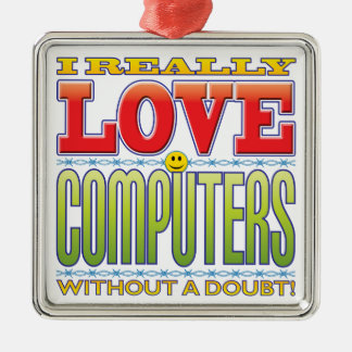 Computers Love Face Christmas Tree Ornaments