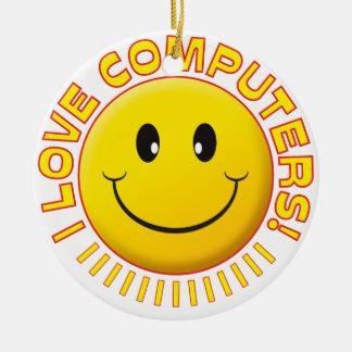 Computers Love Smile Ornament