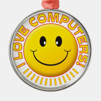 Computers Love Smile Christmas Ornament